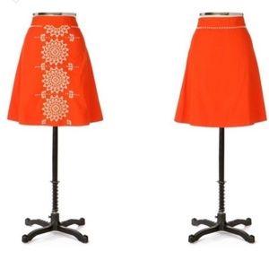 Anthropologie Lithe Beaded Gilded Dawn Skirt SZ 2